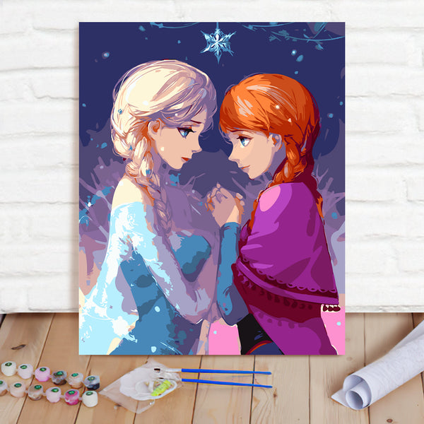 DIY Paint By Numbers Custom Photo Painting Home Decor Wall Hanging-Frozen Painting