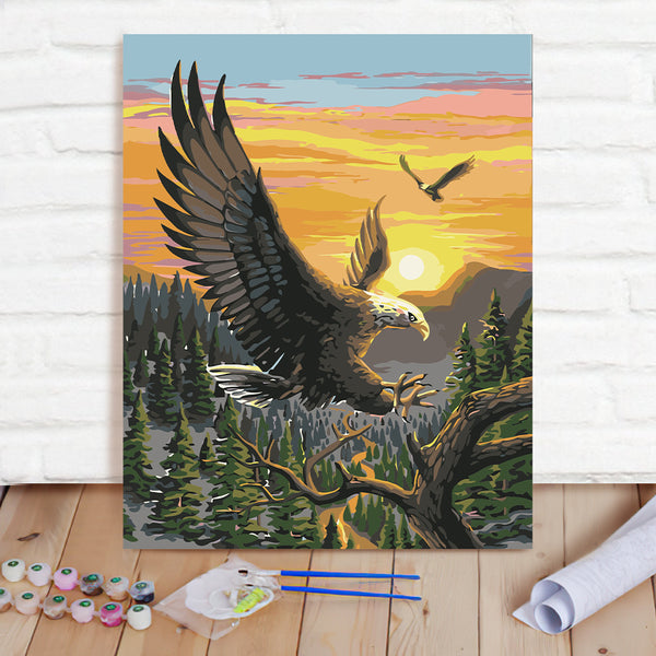 DIY Paint By Numbers Custom Photo Painting Home Decor Wall Hanging-Eagle Painting