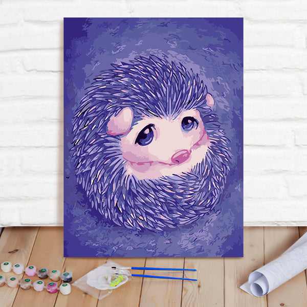DIY Paint By Numbers Custom Photo Painting Home Decor Wall Hanging-Little Hedgehog Painting