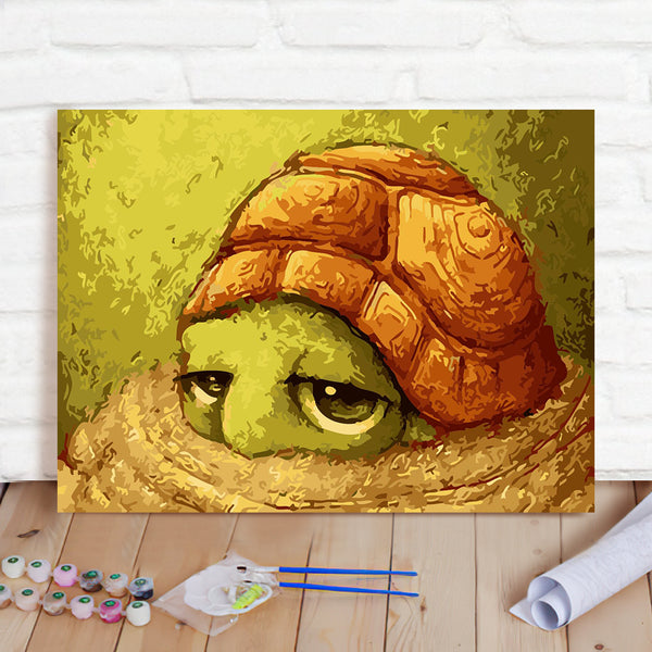 DIY Paint By Numbers Custom Photo Painting Home Decor Wall Hanging-Little Turtle Painting