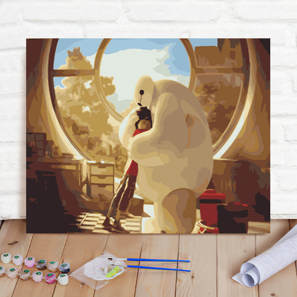 DIY Paint By Numbers Custom Photo Painting Home Decor Wall Hanging-Hug The Great White Painting