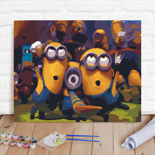 DIY Paint By Numbers Custom Photo Painting Home Decor Wall Hanging-Minions Painting