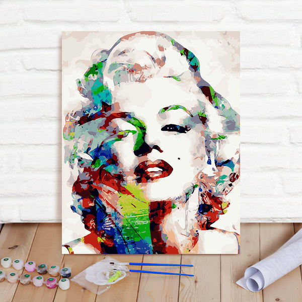 DIY Paint By Numbers Custom Photo Painting Home Decor Wall Hanging-Marilyn Monroe Painting