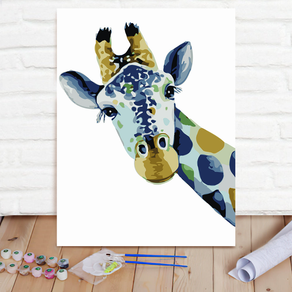 DIY Paint By Numbers Custom Photo Painting Home Decor Wall Hanging-Giraffe Painting
