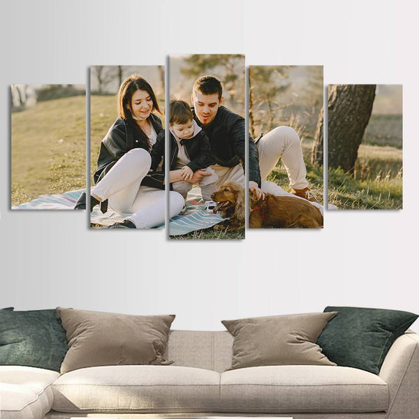 Custom Photo 5pcs Contemporary Painting Family Gifts Home Decor