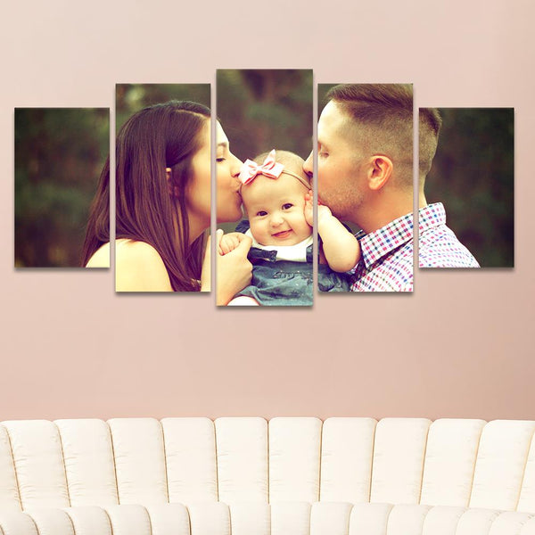 5 Frameless Prints-Wall Decoration Canvas Wall Art Set