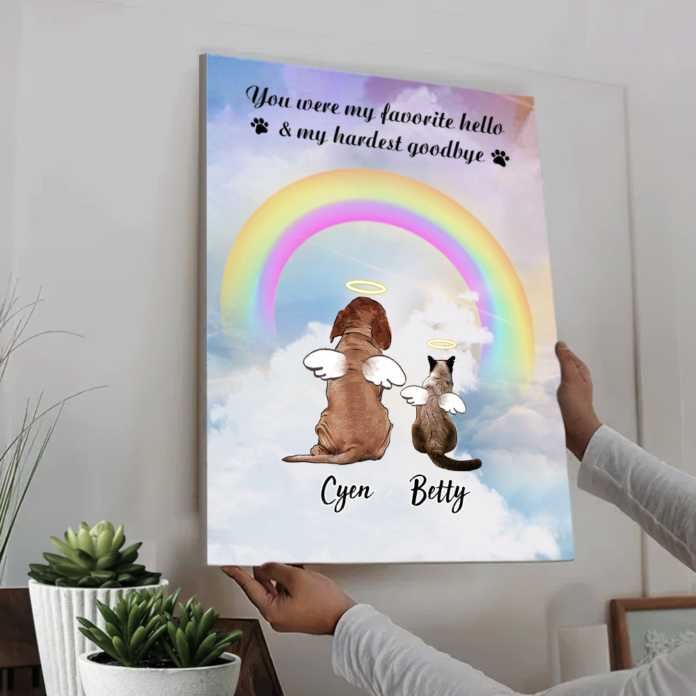 Custom Personalized Vertical Canvas - Pets Lover Memorial Gift