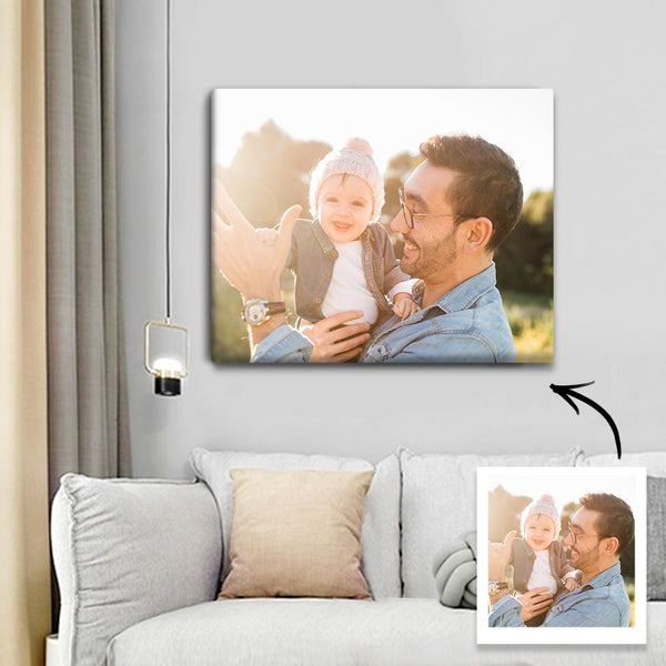 Father's Day Gift Mounted Canvas Picture Watercolor Printing Modern Canvas Art Can Be Directly Hung Home Decoration Kitchen Office Wall Decoration