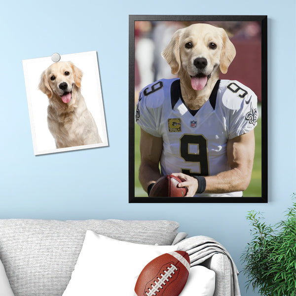 Super Bowl Art Effect Wall Art Home Decor