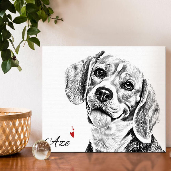 Wall Art Pictures  Framed Pet Canvas Ready to Hang
