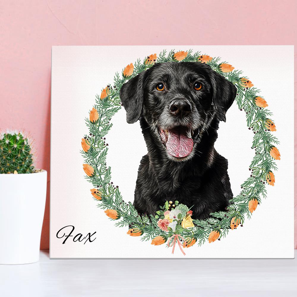 Hardy Gallery Pet Canvas Painting Puppy Artwork Home Decor