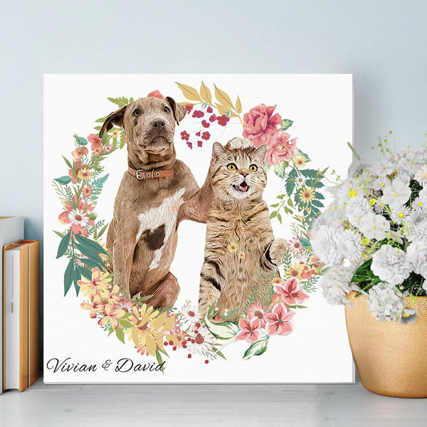 Pet Pictures Prints on Canvas Animal Pet Poster Wall Decor for Home Decoration Framed Ready to Hang