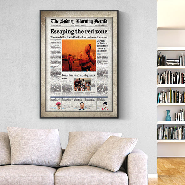 Australia Newspapers The Sydney Morning Herald Canvas  Personalized From A Specific Date Your Memory Day