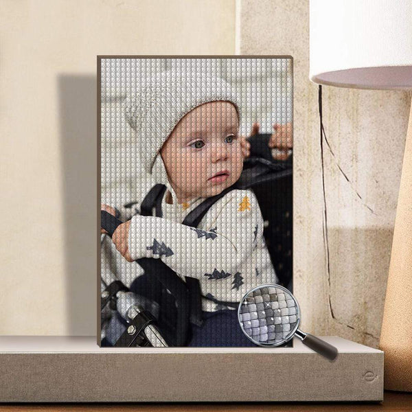 5D DIY Custom Diamond Painting Personalized Photo Diamond Painting Kit Full Square Round Rhinestone Unique Gifts 20*30 cm