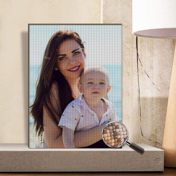 DIY Custom Diamond Painting Personalized Photo Diamond Painting Kit Full Square Round Rhinestone Unique Gifts 30*40cm