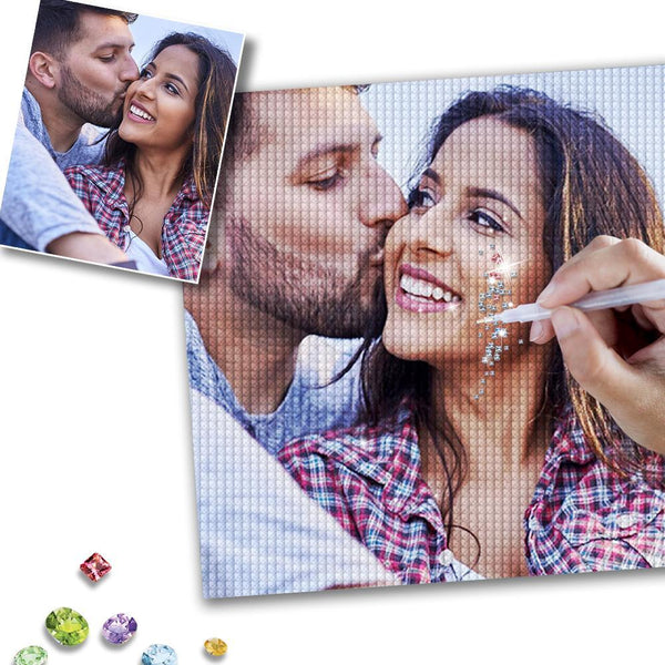 5D DIY Custom Photo Full Square/Round Drill Diamond Painting Valentine's Day Gift