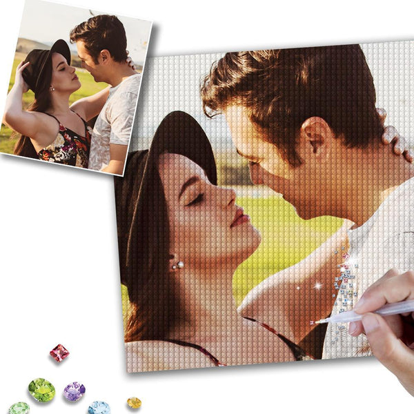 5D DIY Custom Fall-in-Love Photo Full Square/Round Drill Diamond Painting Valentine's Day Gift