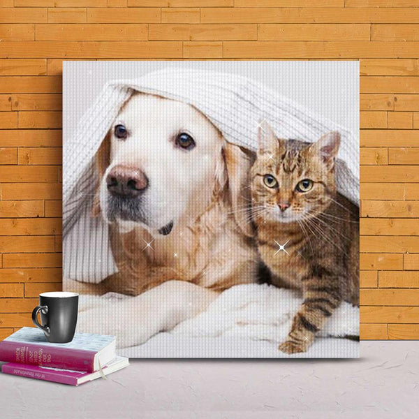 5D DIY Custom Pet Photo Diamond Painting Kit Full Square Round Rhinestone Personalized Gifts