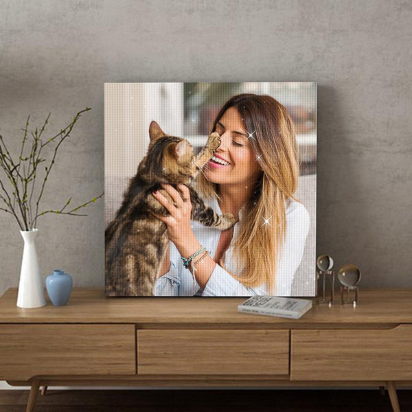 5D DIY Custom Diamond Painting Personalized Pet Photo Full Square/Round Drill Diamond Painting Unique Gifts