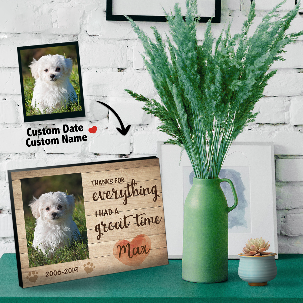 Custom Pet Photo Frame -You Never Leave My Heart