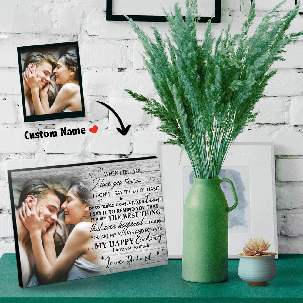 Picture Frame for Her,Him  Romantic Poem + Your Favorite Photo = Custom Gift