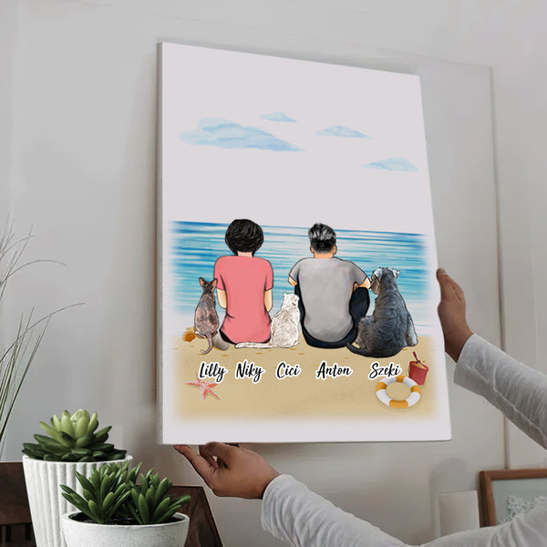 Custom Family Portrait Canvas Painting With 2-6 Members