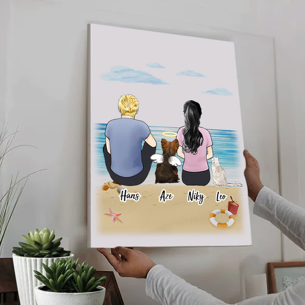 Custom Personalized Vertical Canvas - Good Times For Pets and Owners