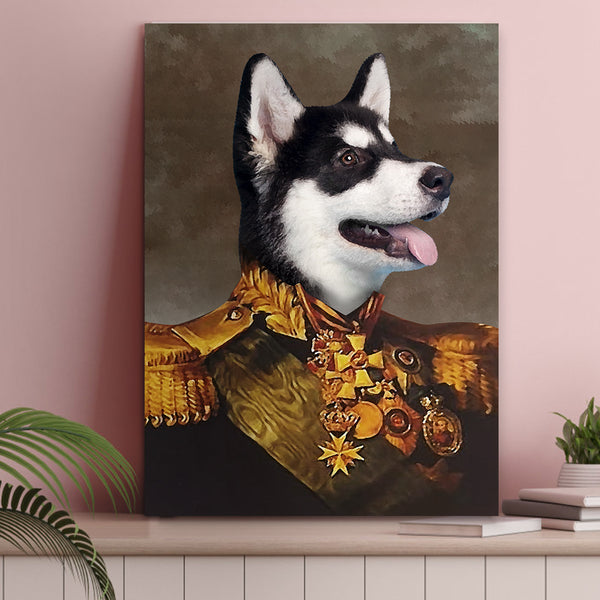 Custom Pet Cat Canvas - The General