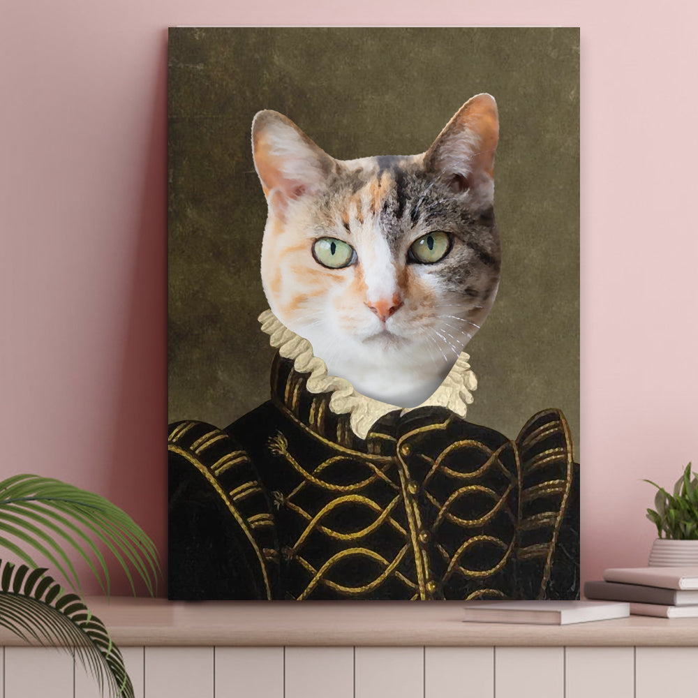 Custom Pet Cat Canvas - The Count