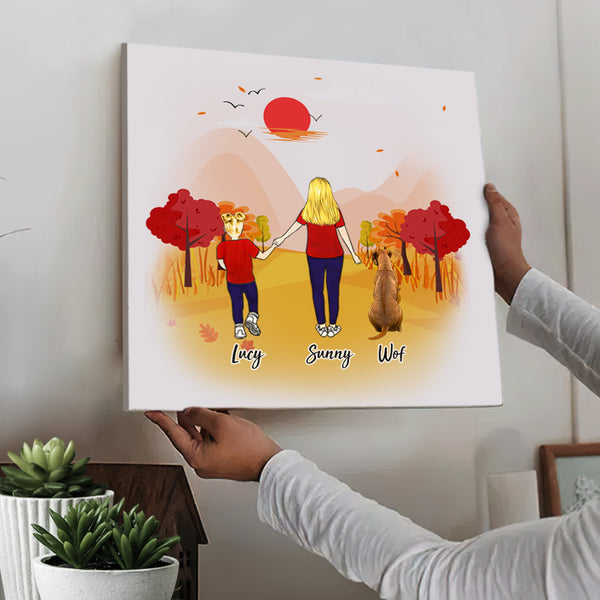 Custom Square Canvas - Family Walking Time (Online Design & Preview)