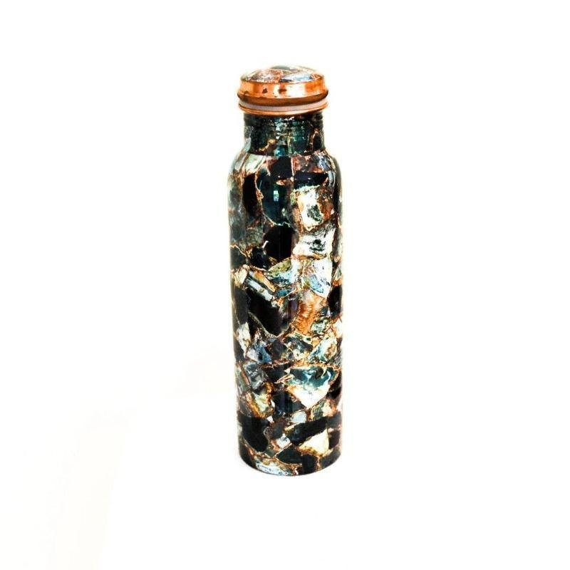Copper Water Bottle with Enamel - the five clouds