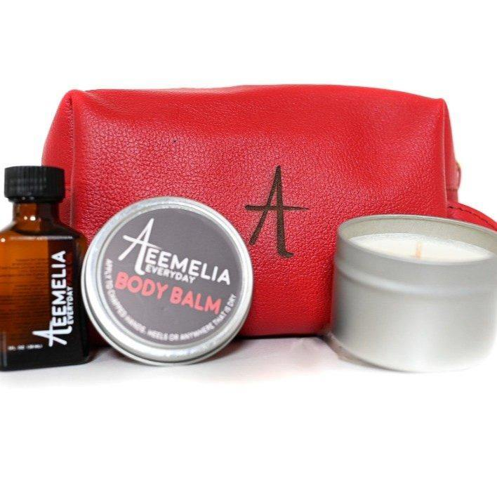 Aeemelia Skin Care Travel Set + Bag - the five clouds