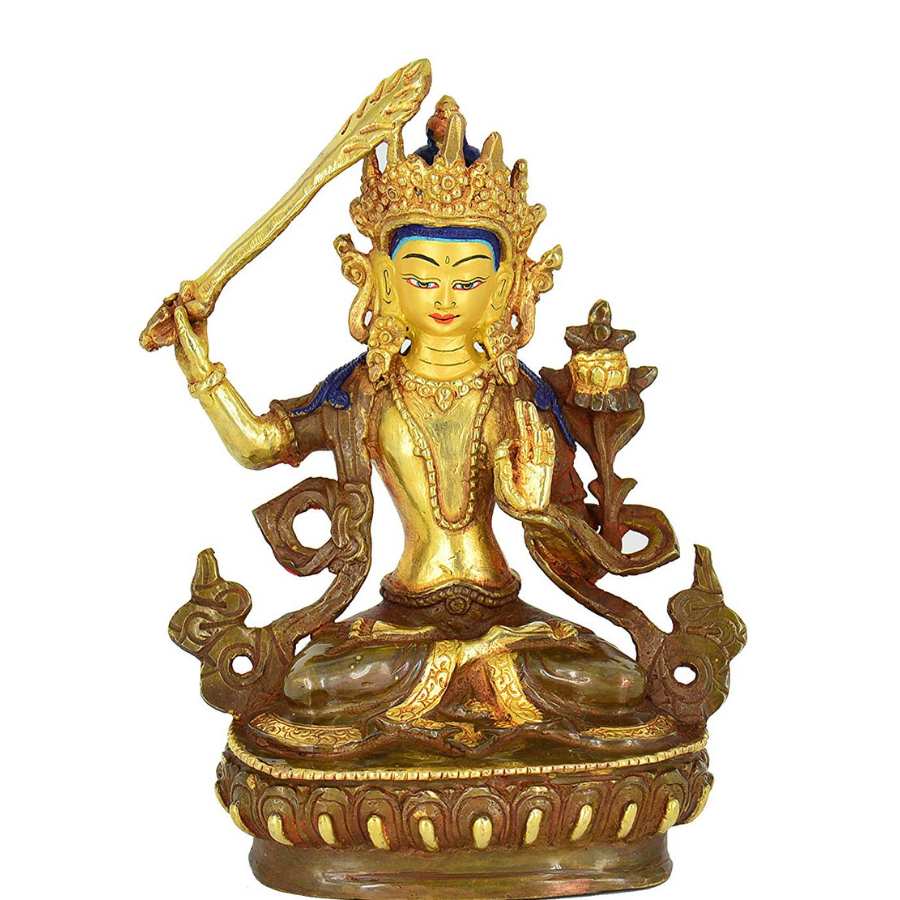Manjushri Statue - the five clouds