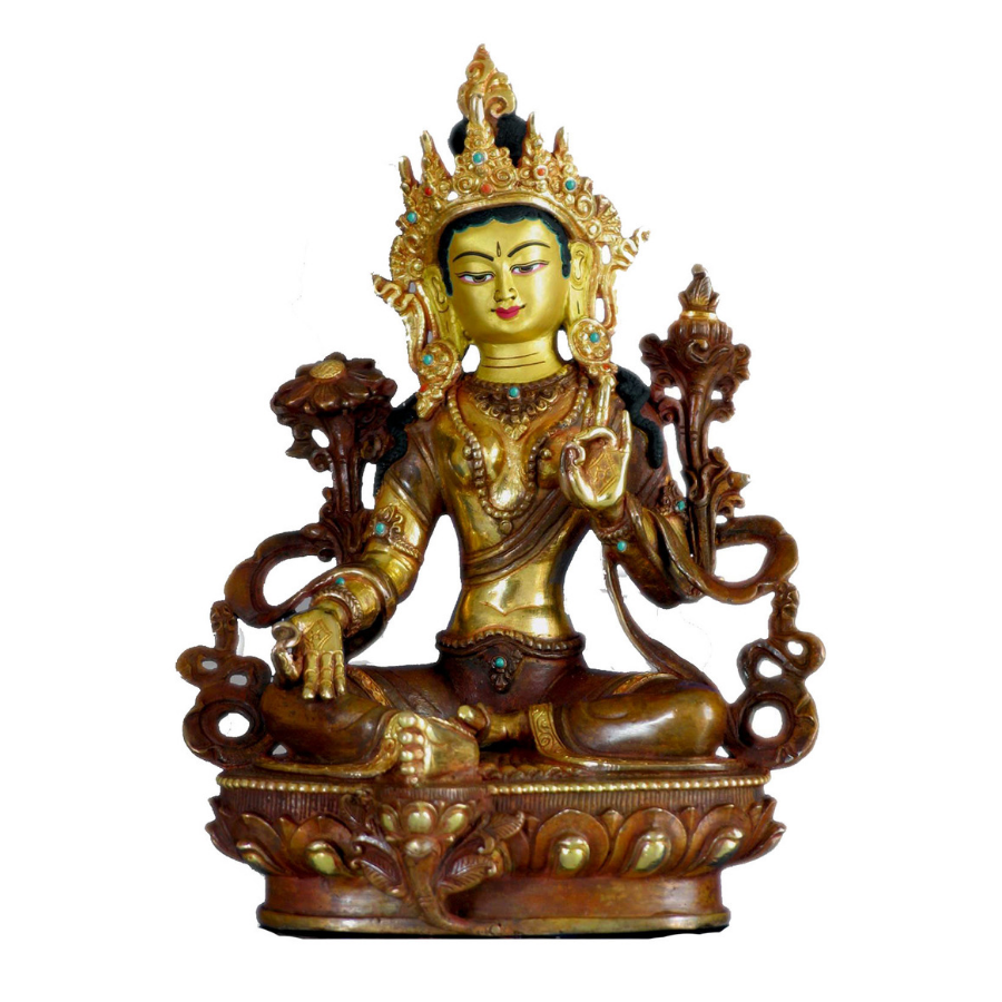Green Tara Statue - the five clouds