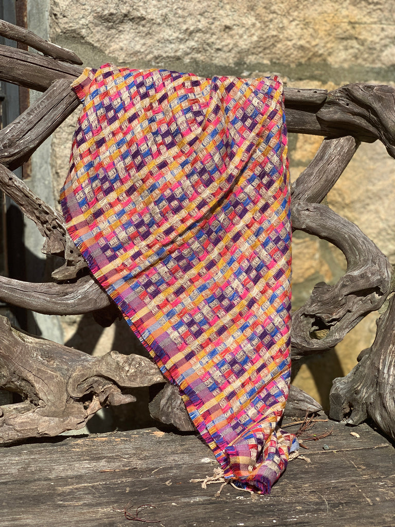 Woven wool blend scarf - the five clouds