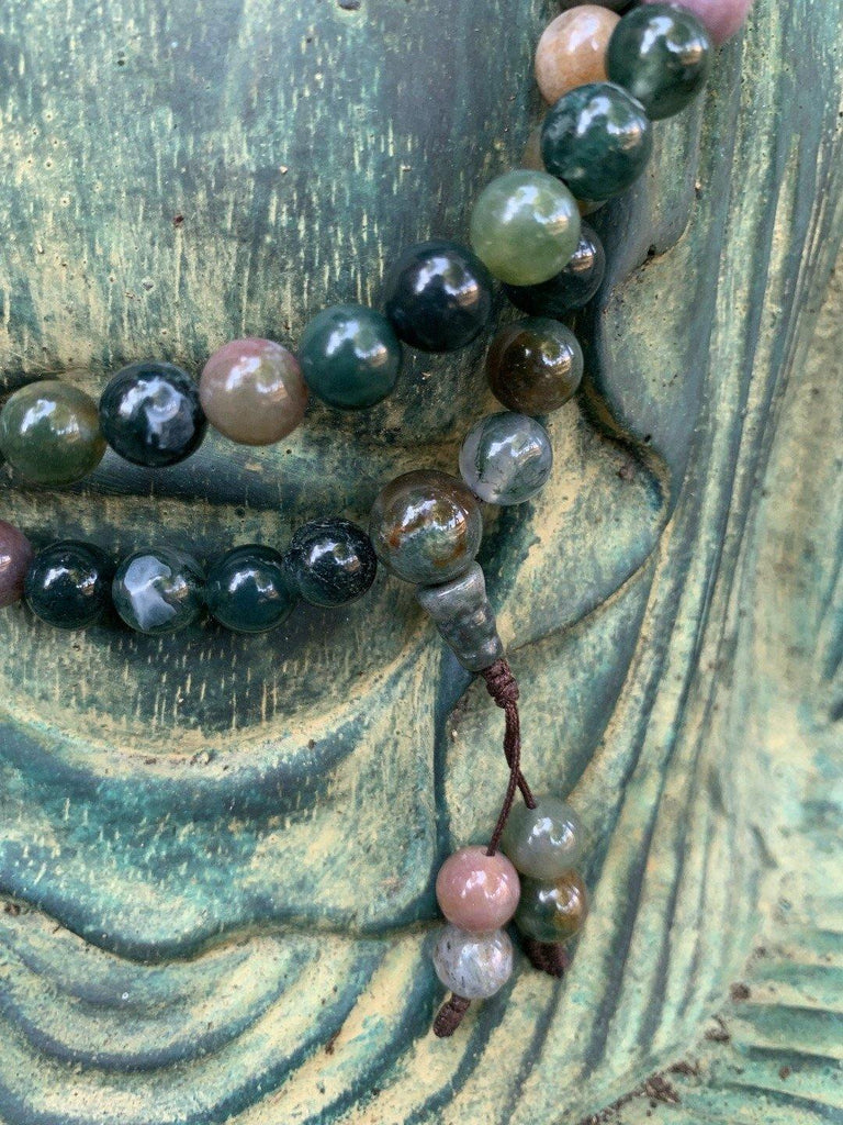 Jasper Agate Mala Beads - the five clouds