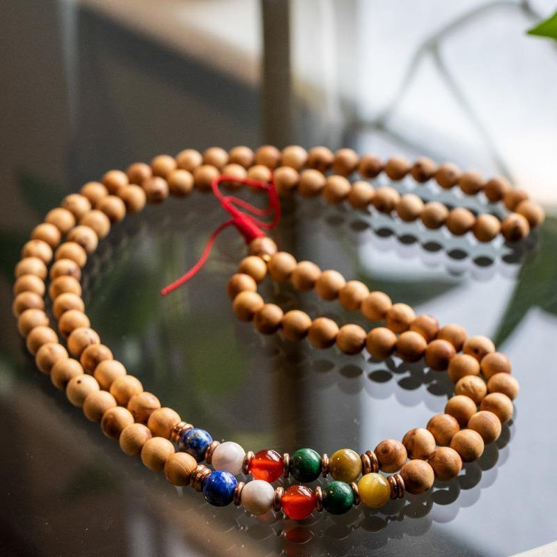 Five Clouds Five Color Wooden Mala Beads - the five clouds