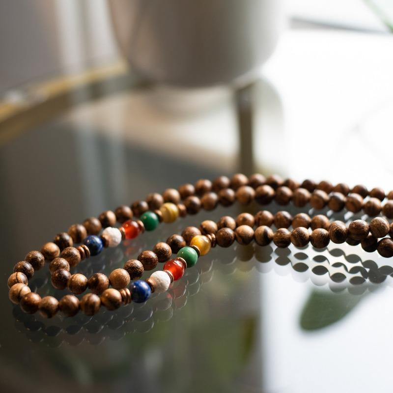 The Five Clouds | Wooden  mala Beads