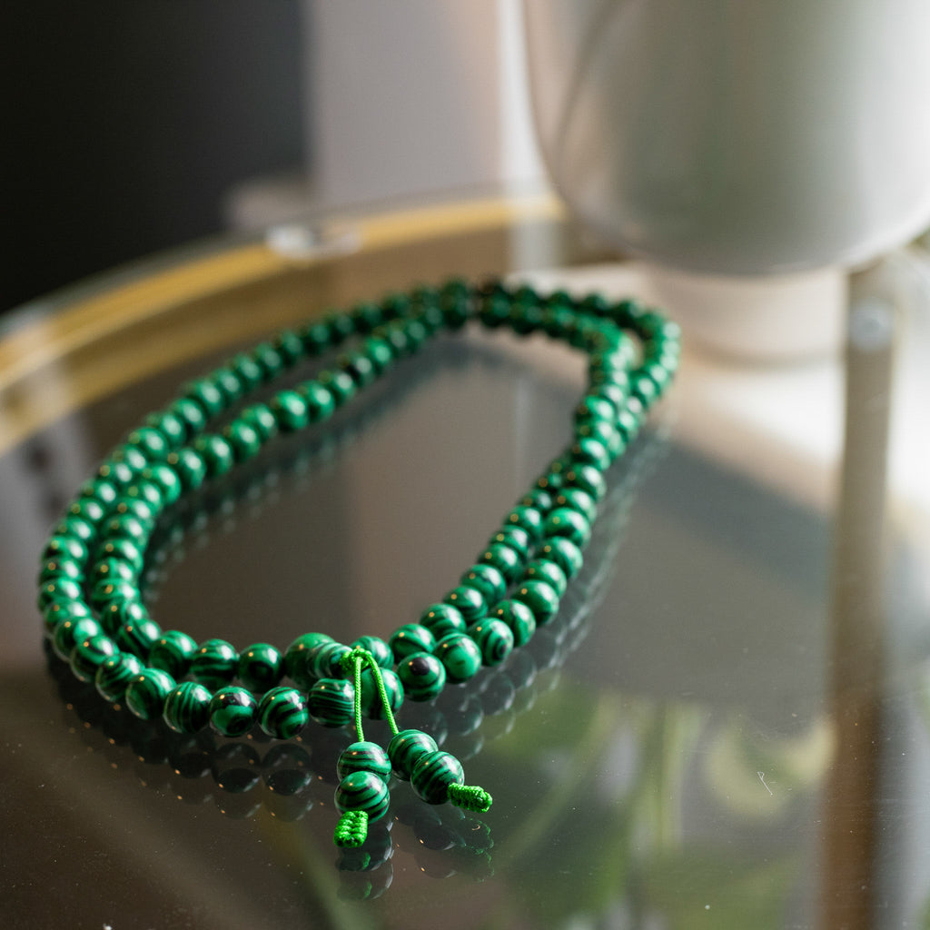 Jade Mala Beads - the five clouds