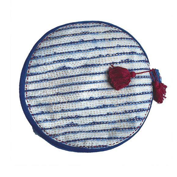 Round Eclipse Moon Buckwheat Meditation Cushion - the five clouds