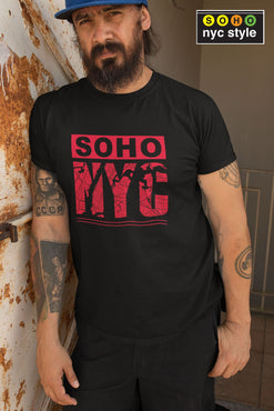 Men SoHo NYC Road Map T-Shirt