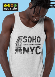 Men SoHo NYC Vintage Grafix Tank Top