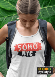 Women SoHo NYC Brush Graphix Tank Top