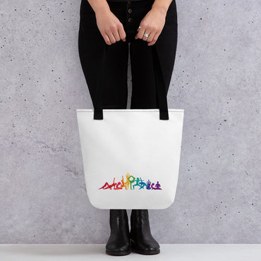 "Tote Bag With ""Dance Multiple Pose Graphix"""