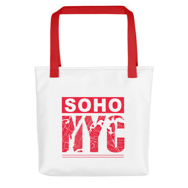 "Tote Bag With ""SoHo NYC Map Graphix"""