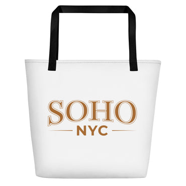 "Beach Bag With ""SoHo NYC Classic Graphix"""