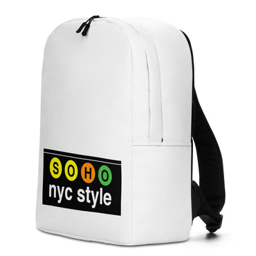 "Minimalist Backpack With ""SoHo NYC Style Grafix"""