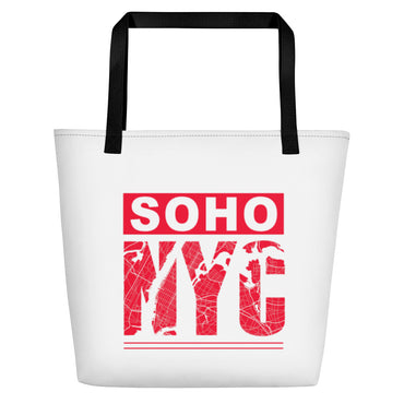"Beach Bag With ""SoHo NYC Map Graphix"""