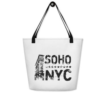 "Beach Bag With ""SoHo NYC Vintage Graphix"""