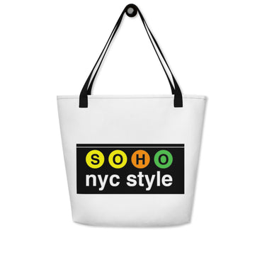 "Beach Bag With ""SoHo NYC Style Graphix"""
